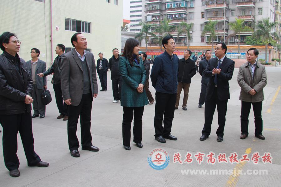 中山市副市长带领当地政府及人社局考察团到我校考察